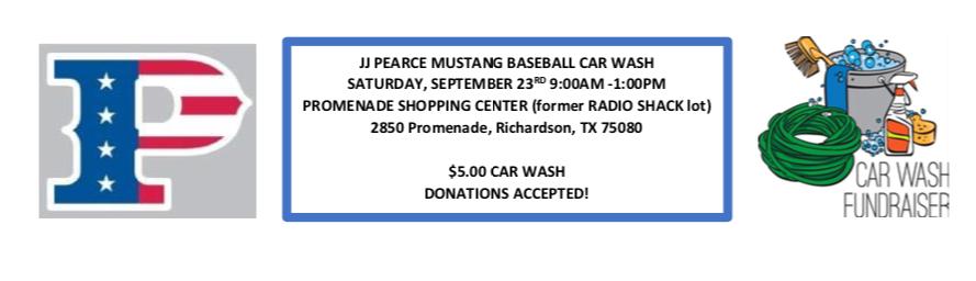 2017 Baseball Car Wash Fundraiser
